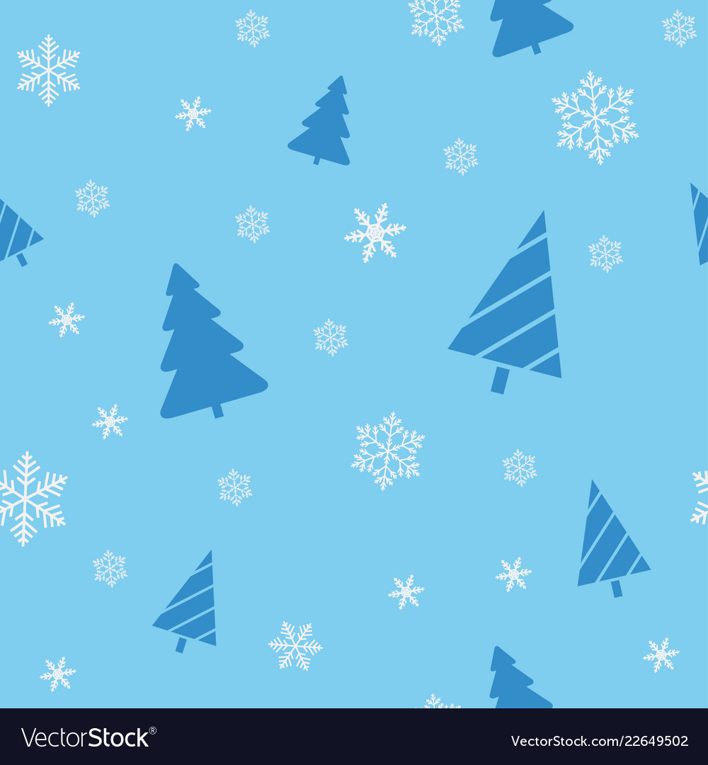 Christmas seamless blue background for wrapping