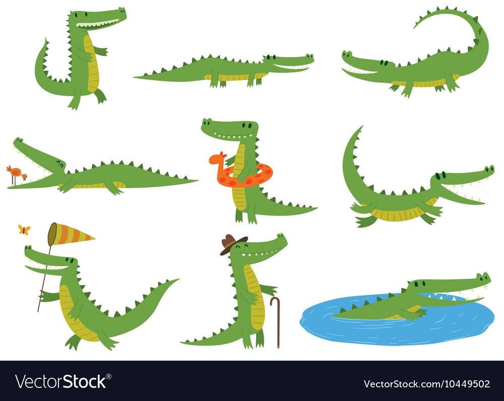 Crocodile character set