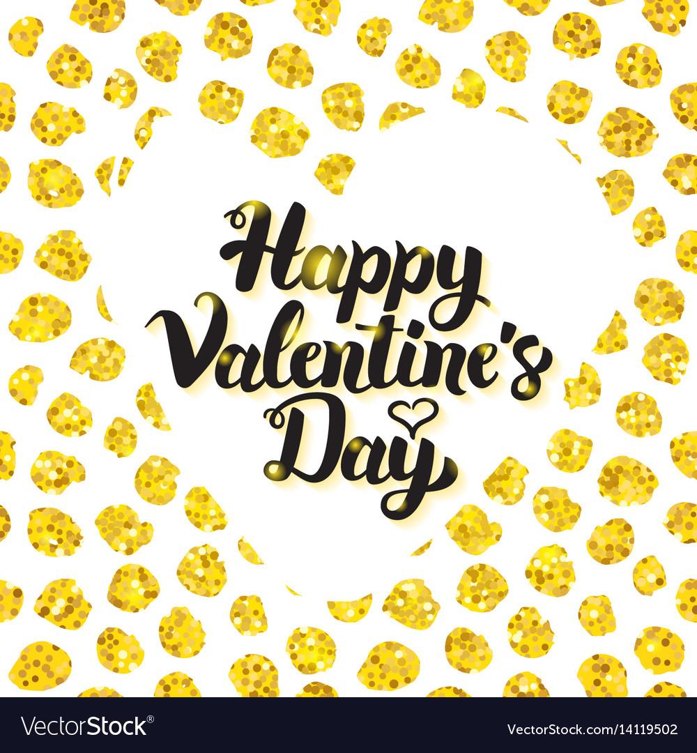 Happy valentines day hand drawn card
