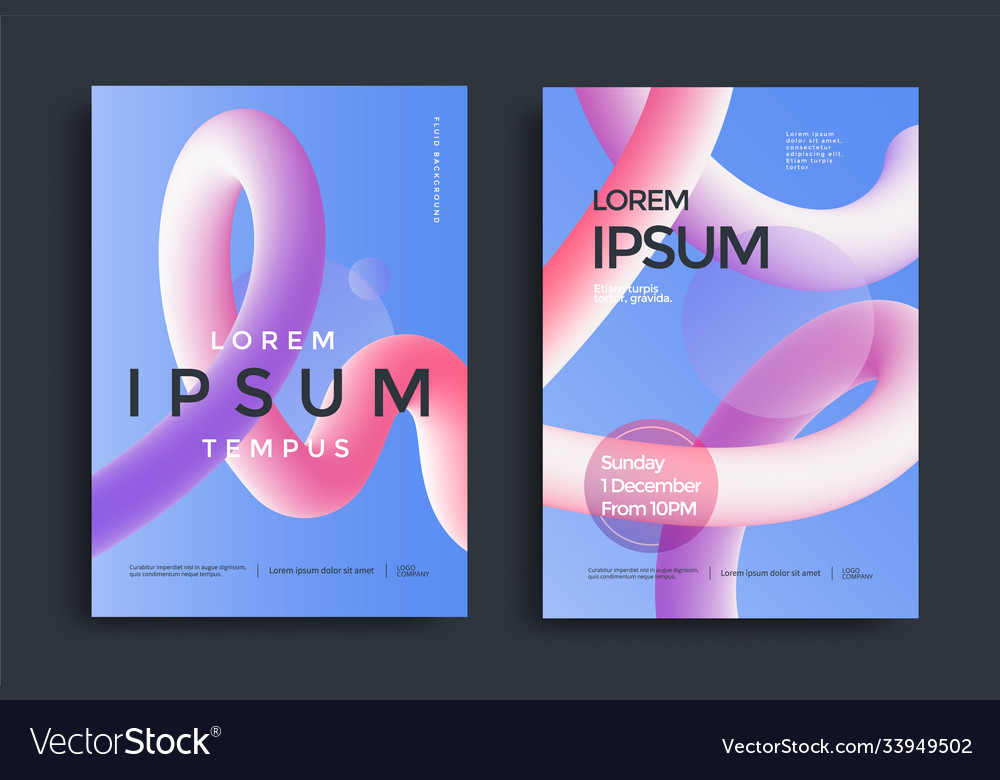 Modern poster layout with creative 3d flow shape
