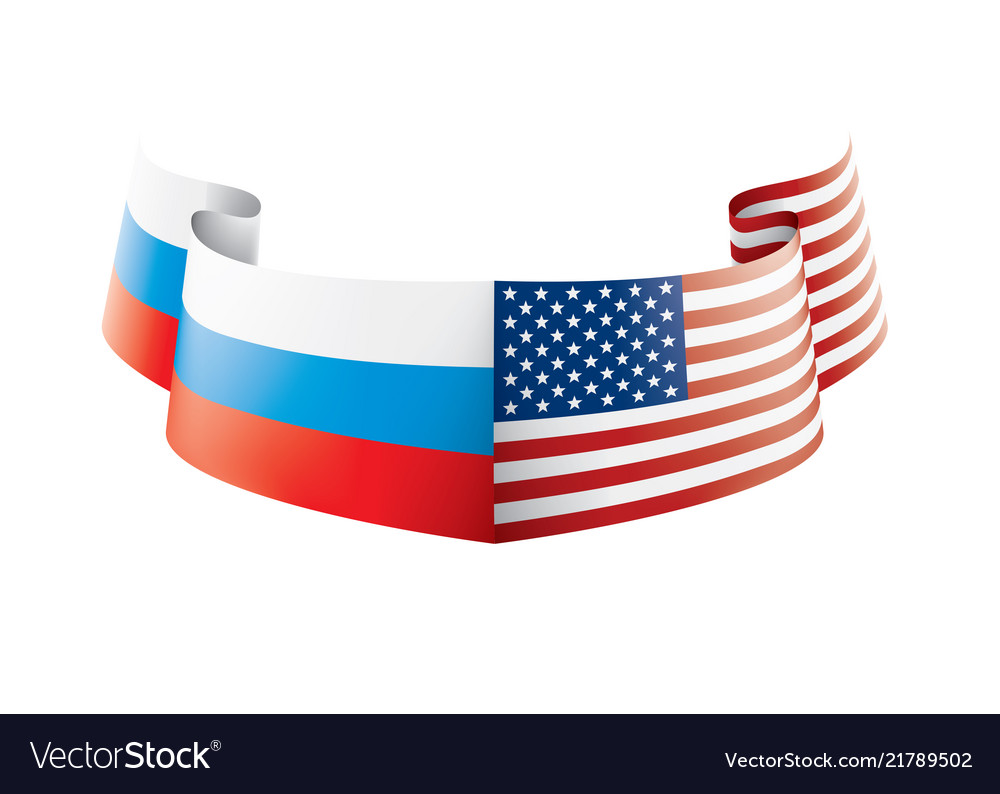 Russia And Usa National Flags Royalty Free Vector Image