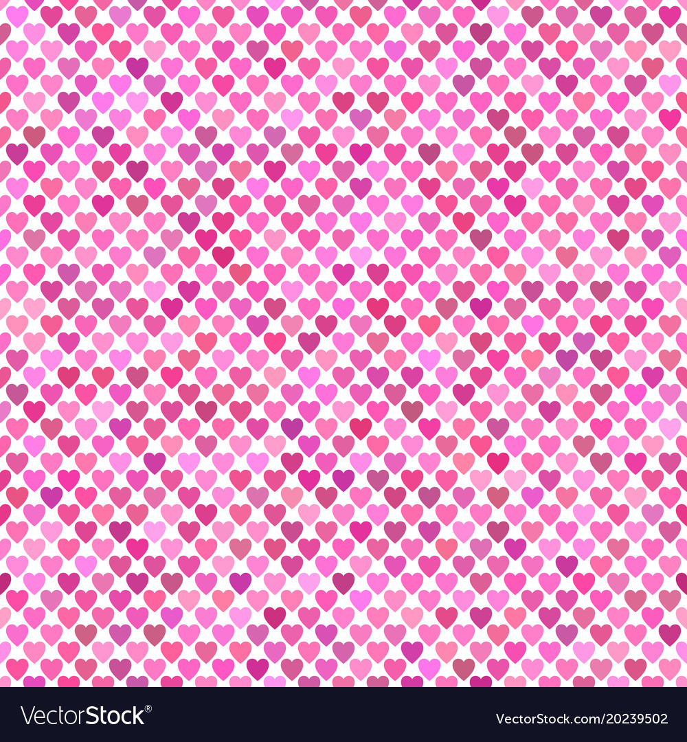 Seamless pink heart background pattern design