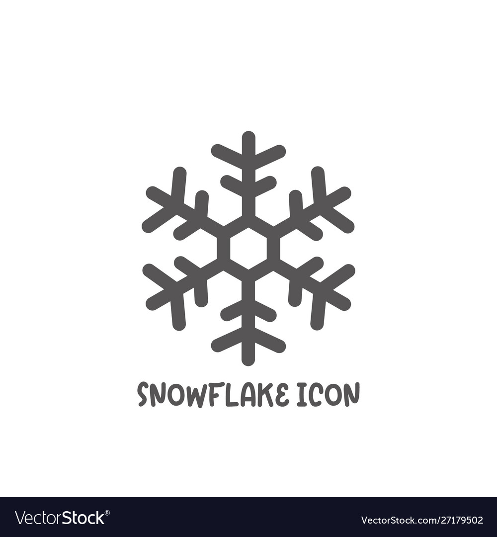 Snowflake icon simple flat style