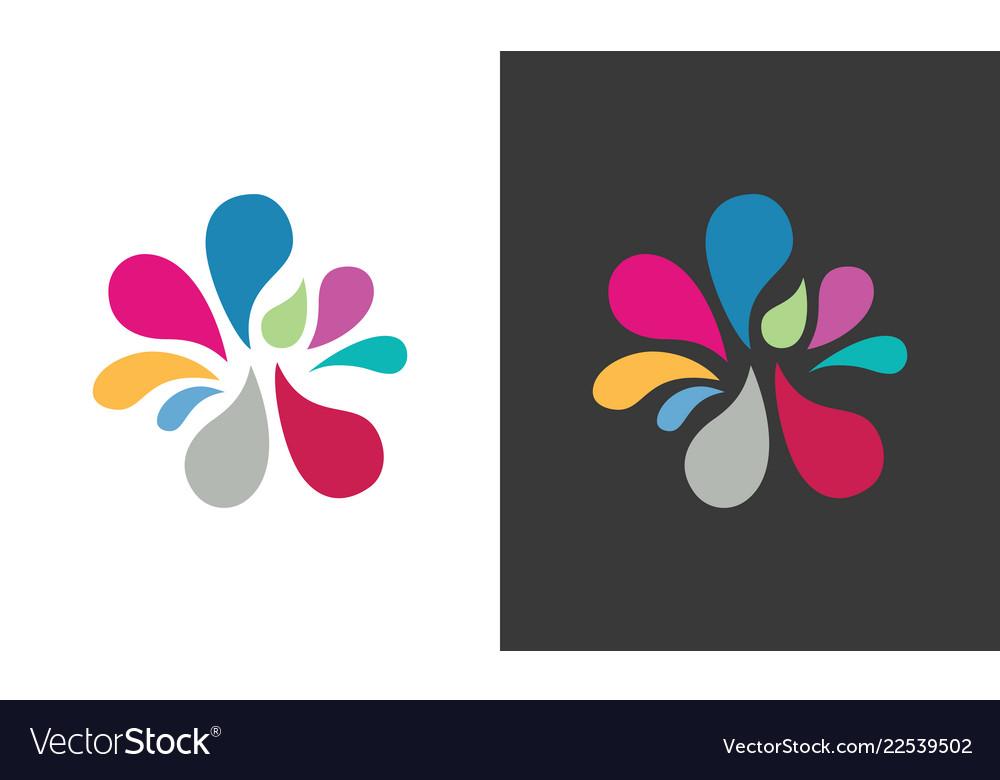 Water splash colored logo