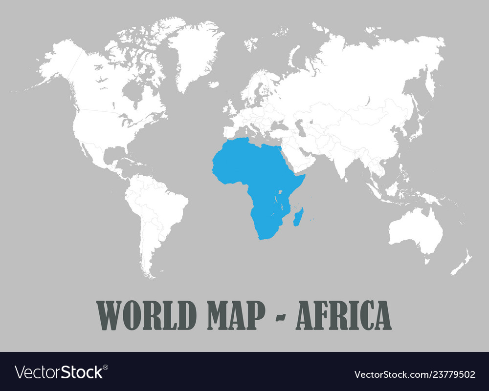 World map all countries white color