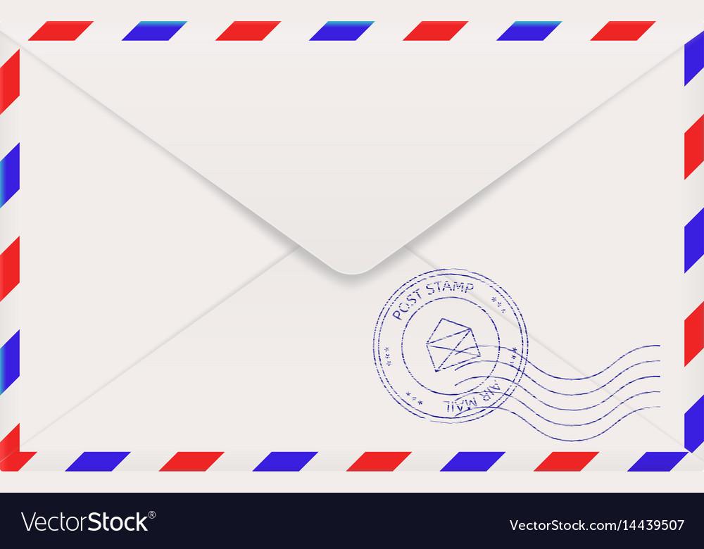 Air mail envelope back side