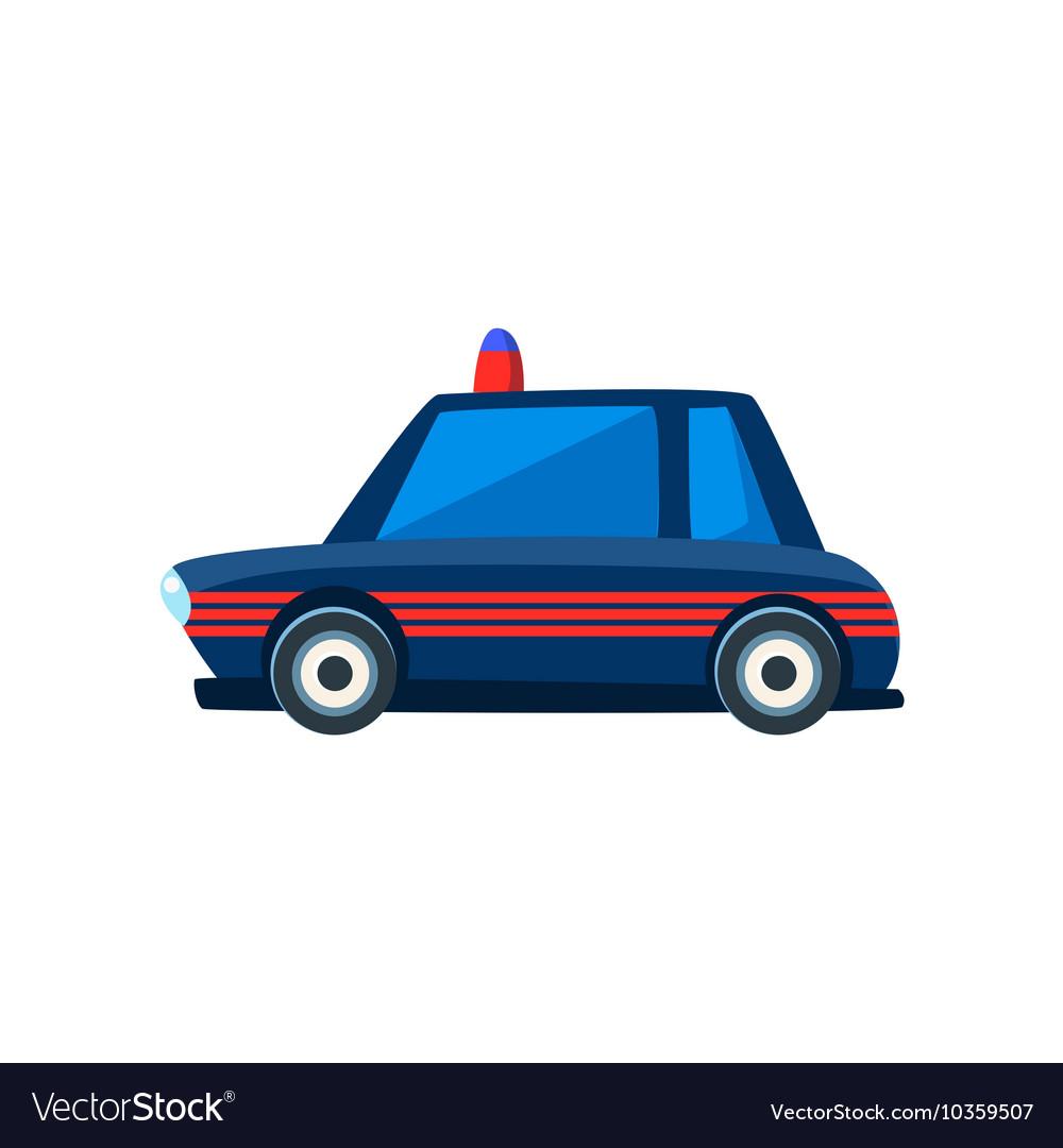 Black Police Toy Cute Car Icon vector image