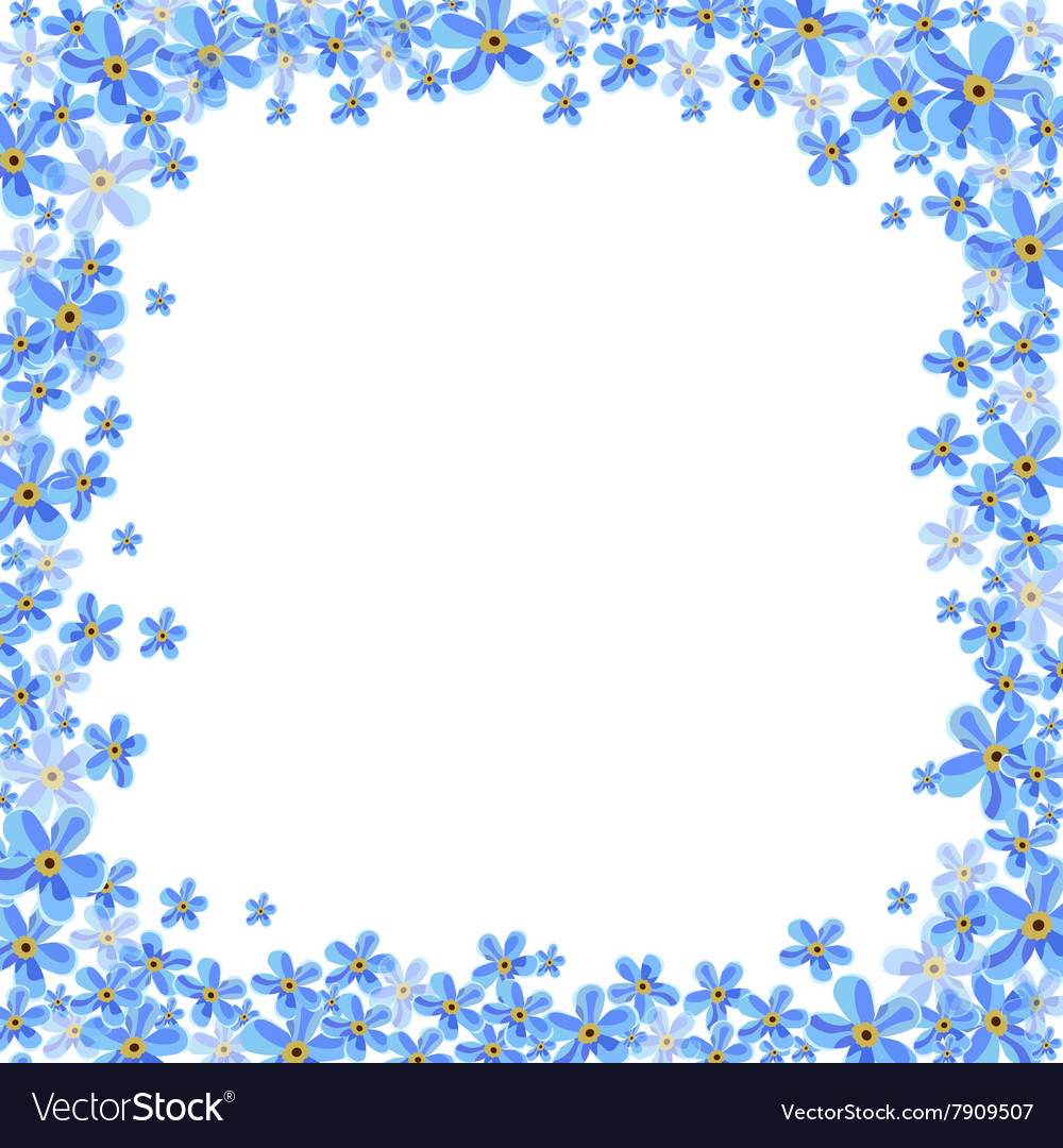 Frame With Blue Forget Me Not Flowers Royalty Free Vector