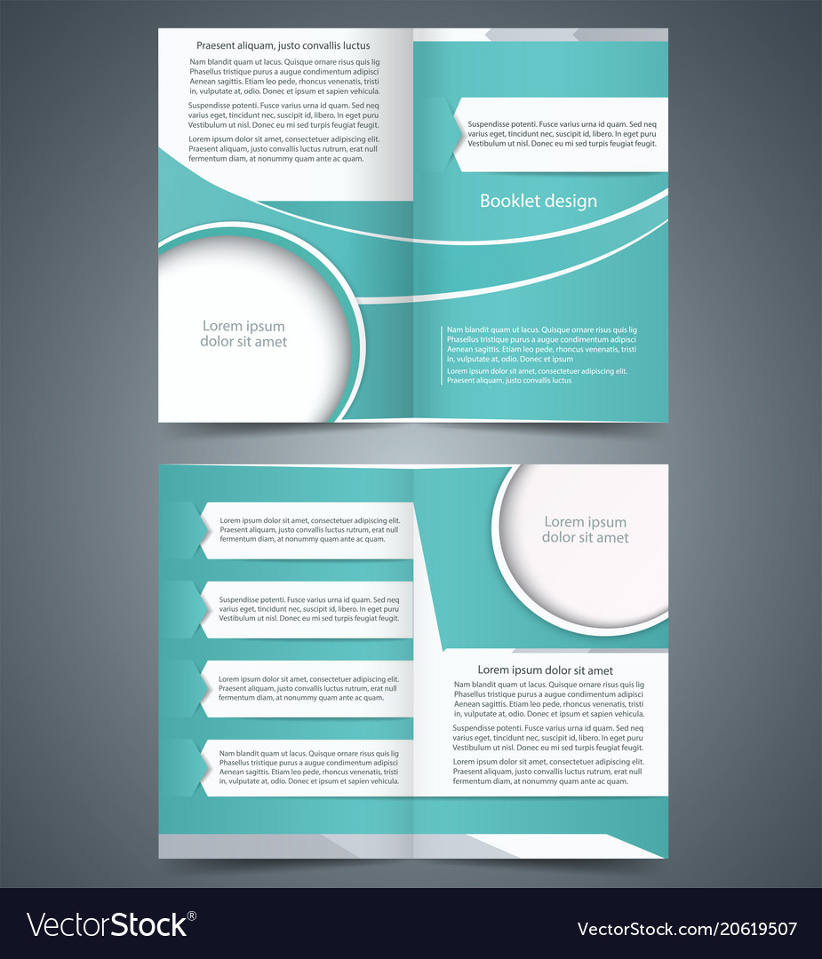 Green Bifold Brochure Template Design Royalty Free Vector