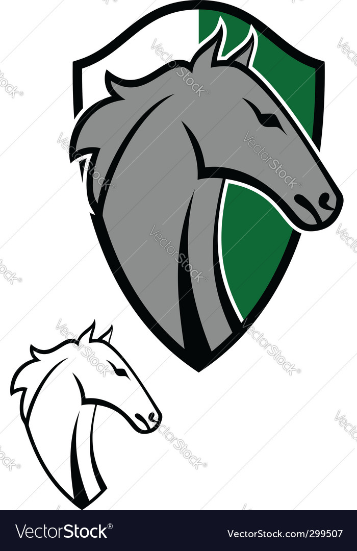 Horse cartoon emblems vector image