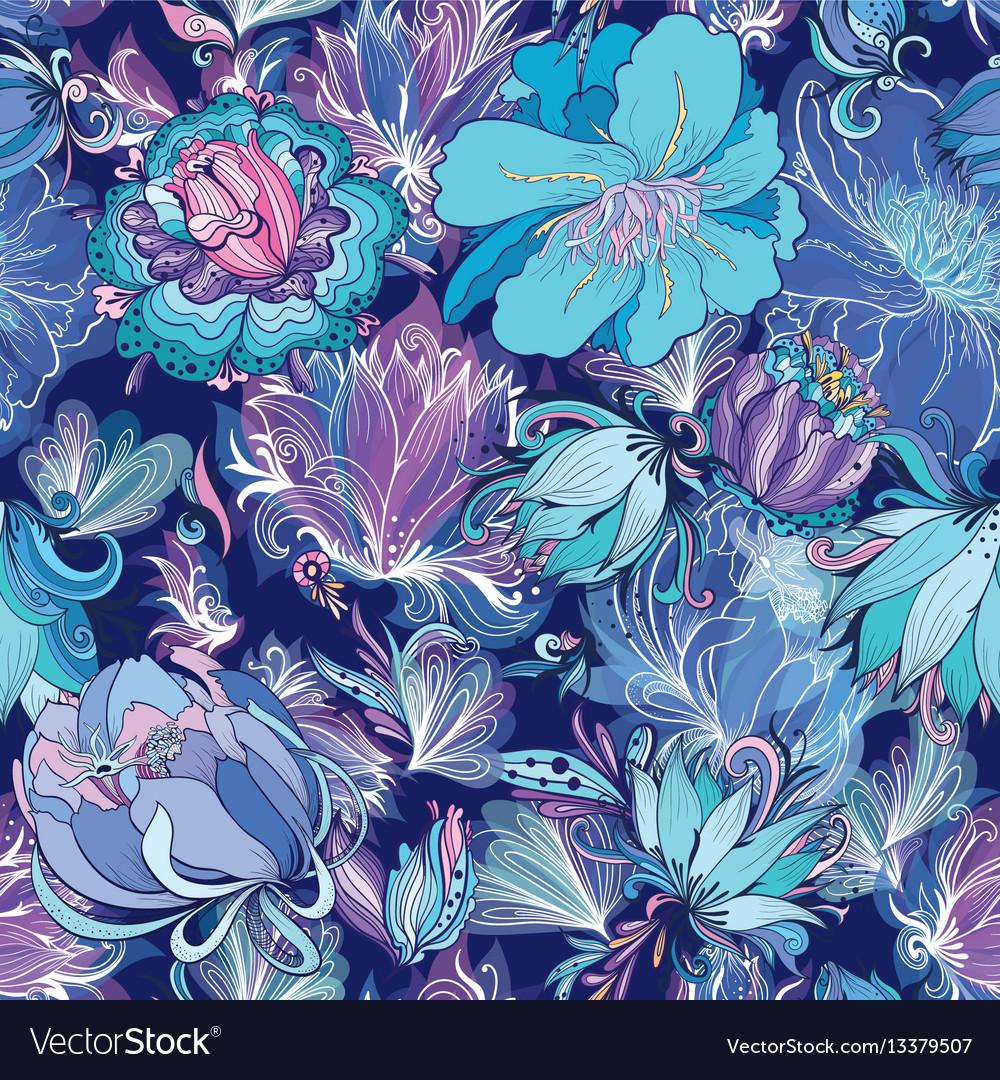 Indigo flower pattern