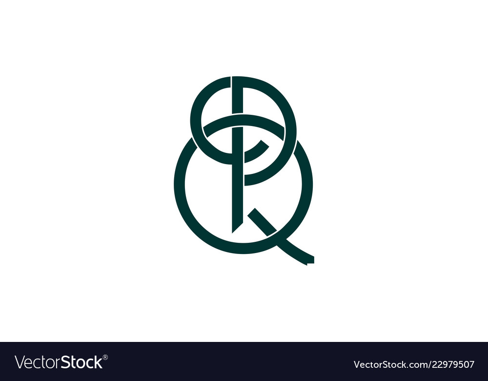 Letter p q logo designs inspiration isolated on