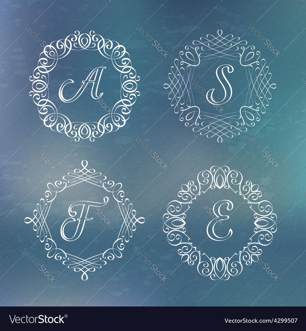 Round calligraphic frame