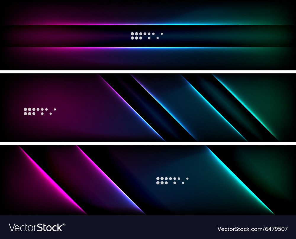 Set Banner Header Backgrounds With Place Vector Image