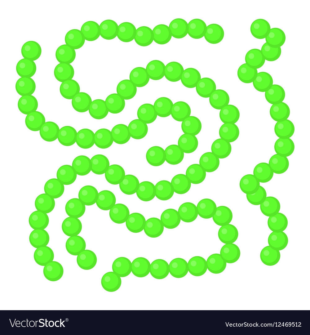 Bacteria icon cartoon style