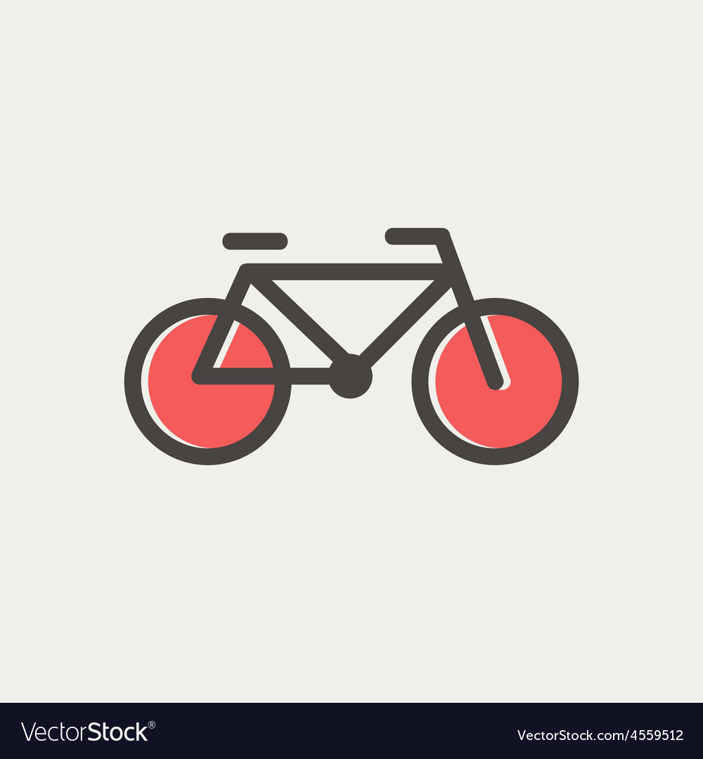Bicycle thin line icon