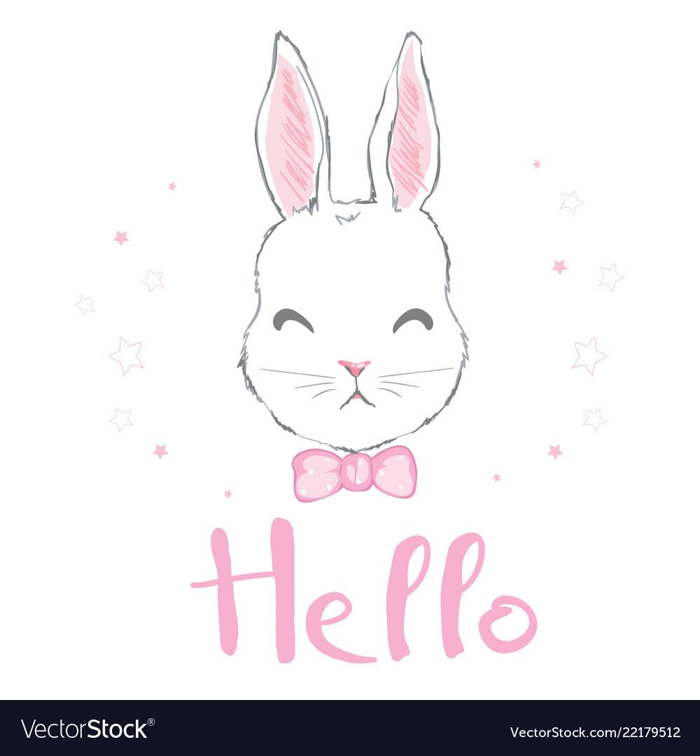 Cute bunny girl with crown dream big princess