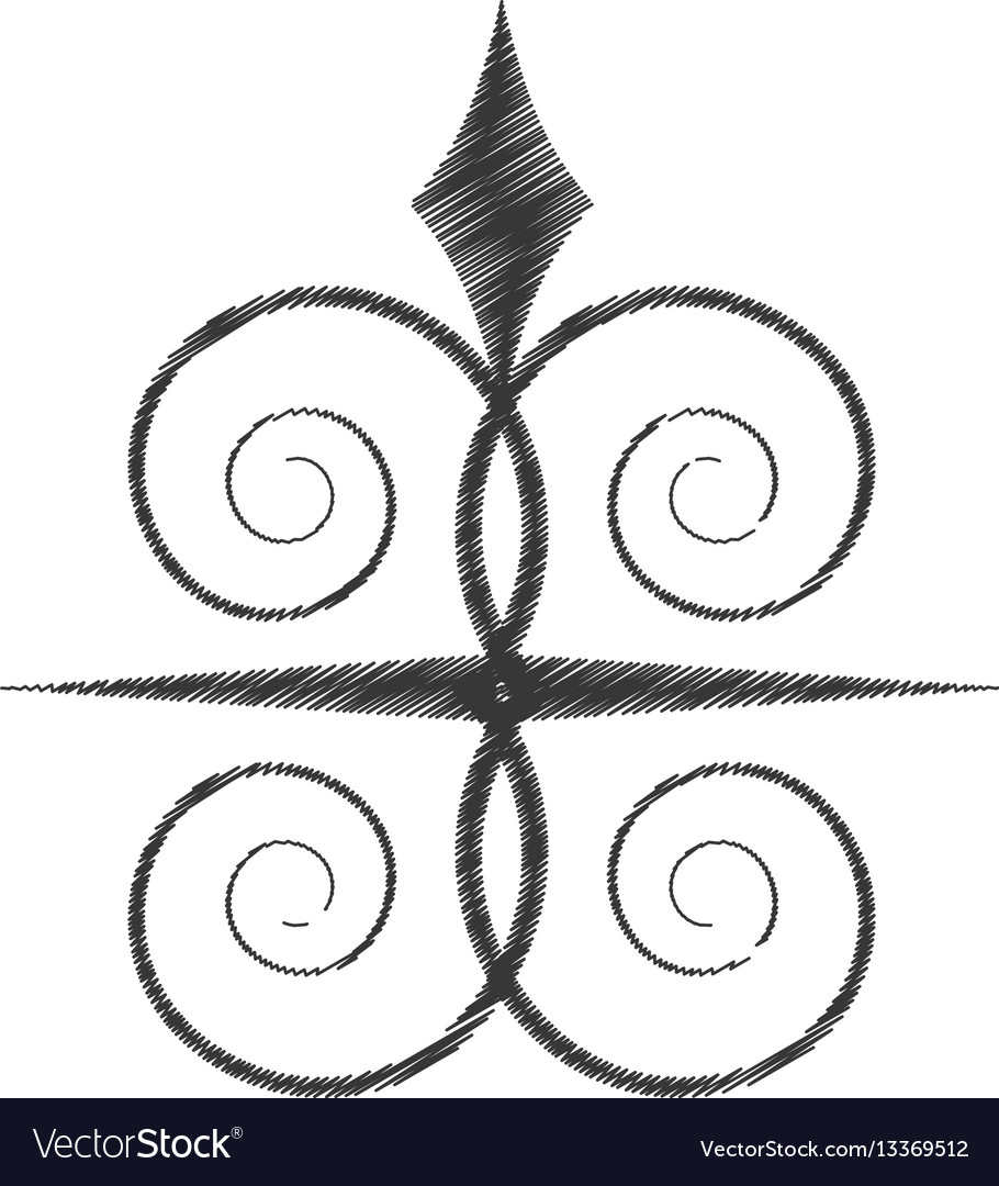 Drawing swirl decorate ornate style