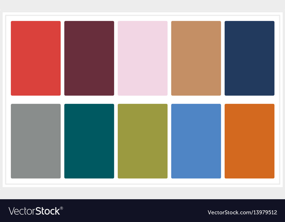 Fall colors for 2017 colors of the year palette