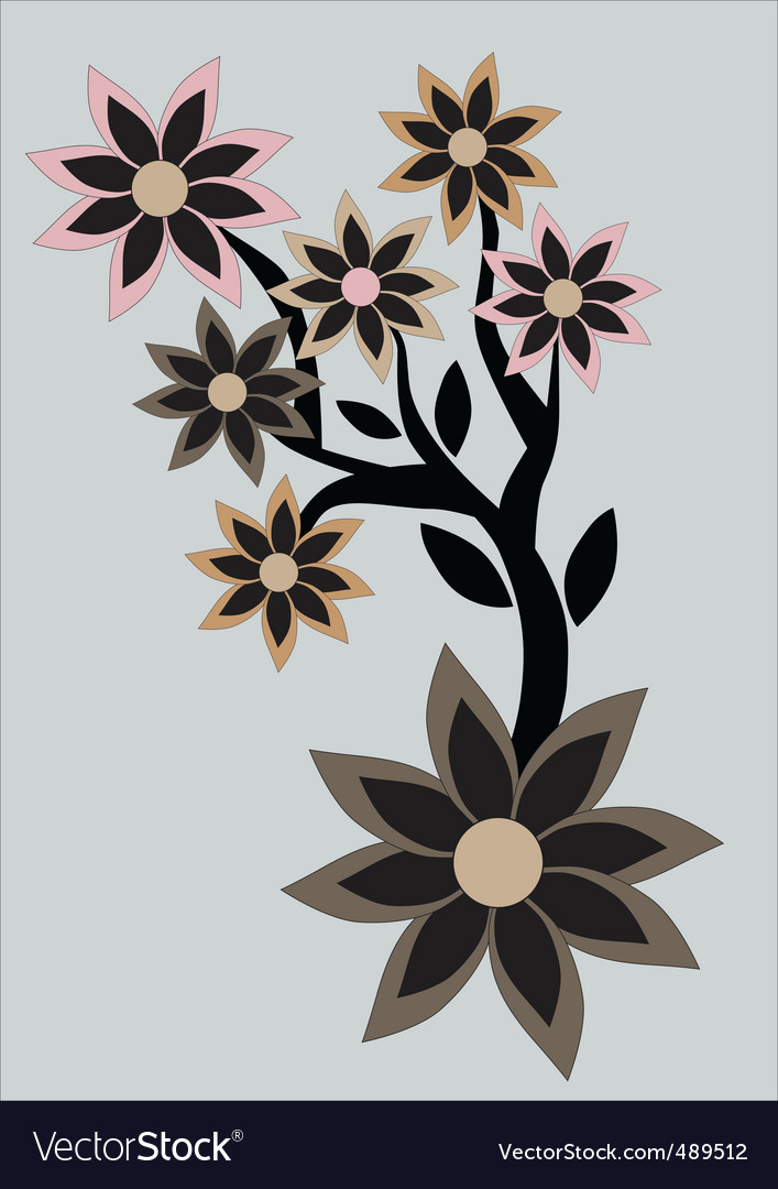 Floral abstract retro background