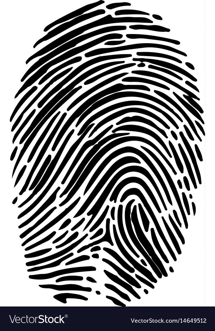 Isolated fingerprint symbol vector image