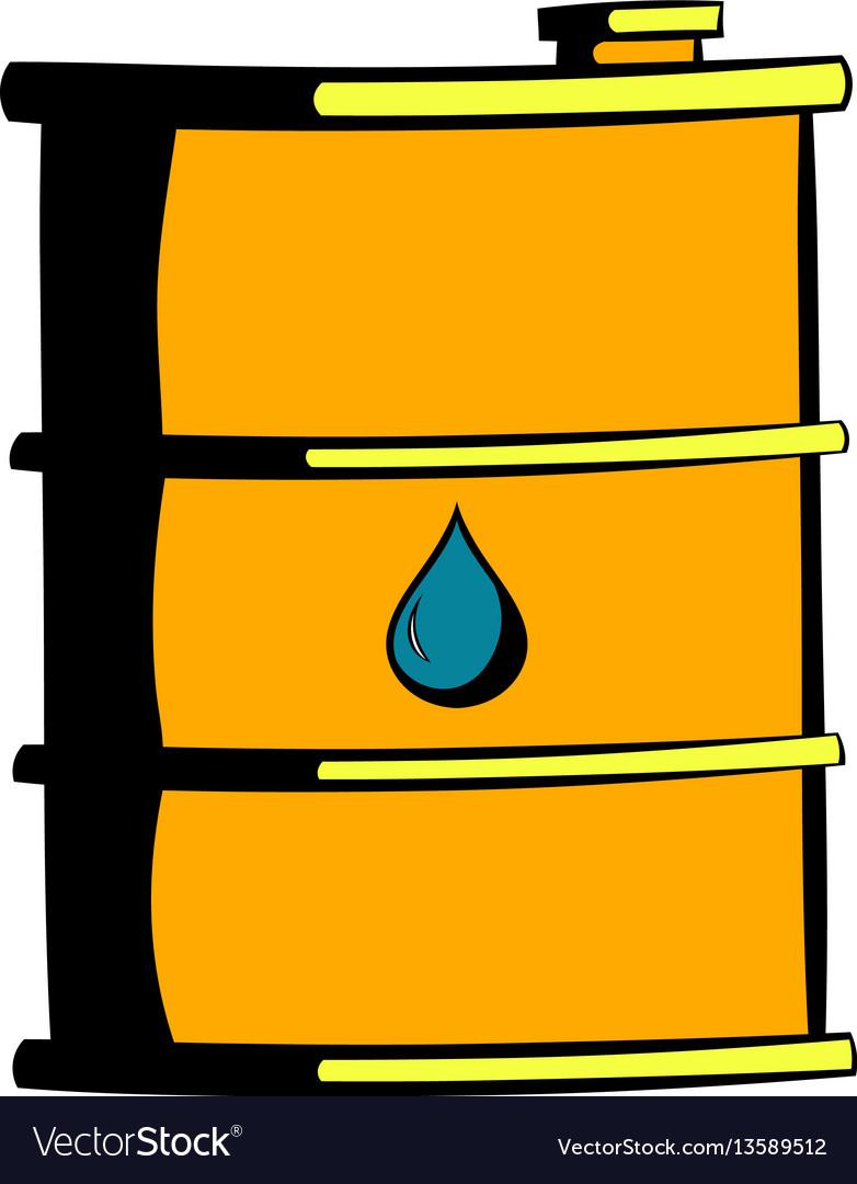 Oil barrel icon icon cartoon