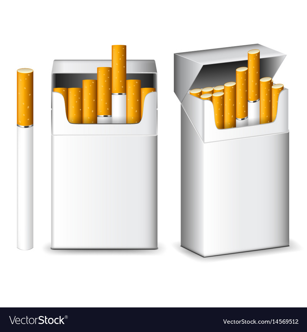 Pack of cigarettes isolated on white