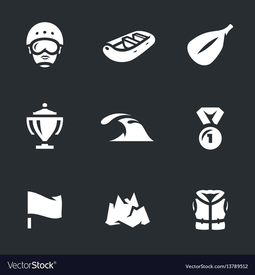 Set rafting icons