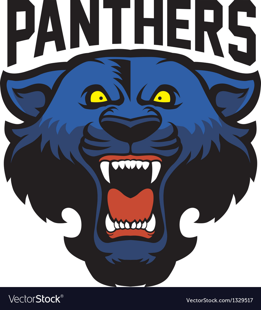 Angry panther head