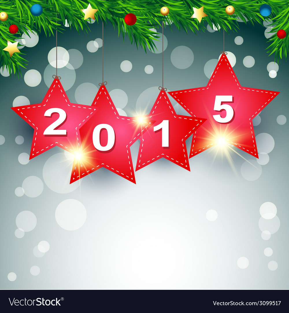 Hanging 2015 happy new year background
