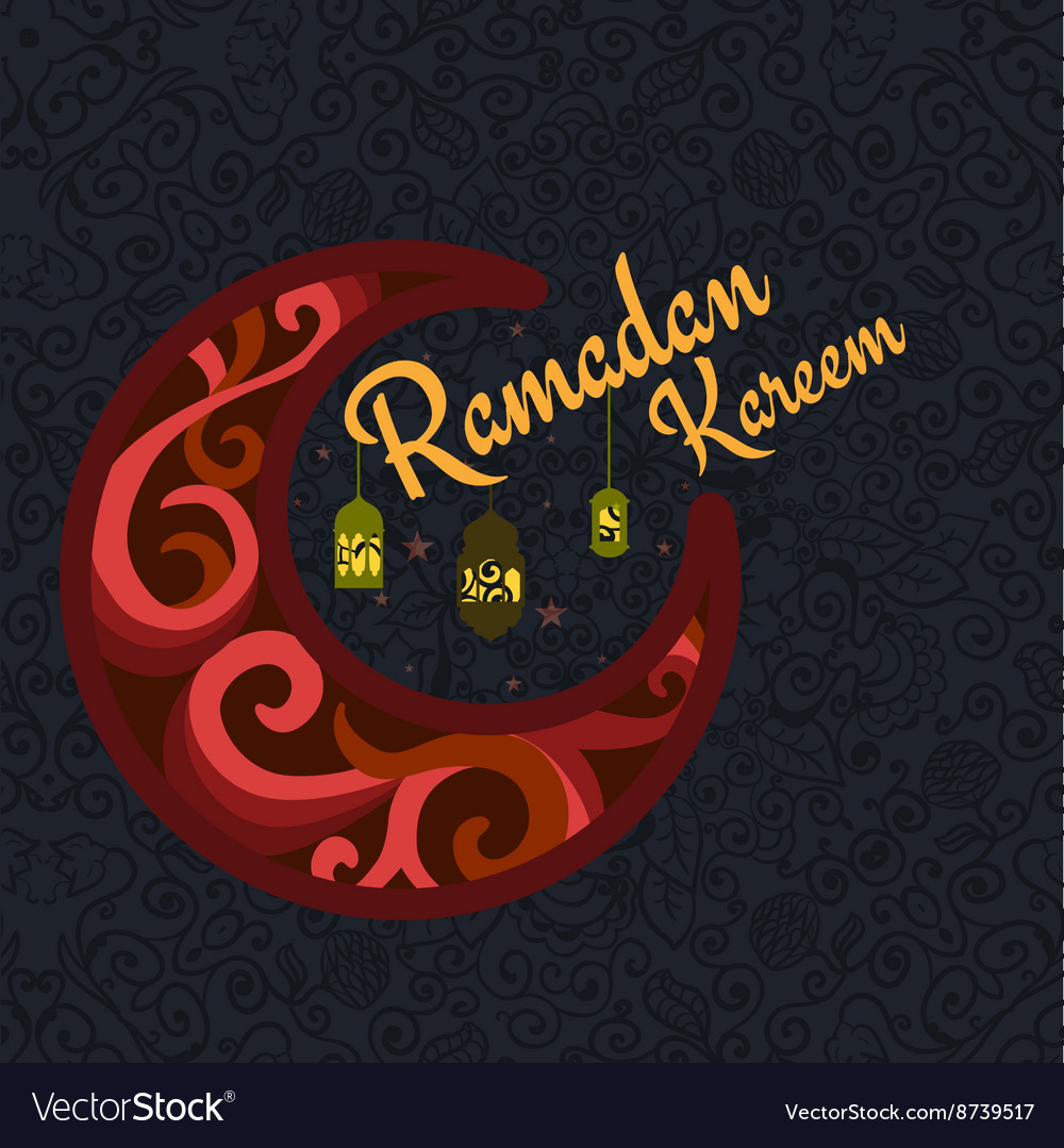 Happy ramadan kareem greeting background vector image m4hsunfo