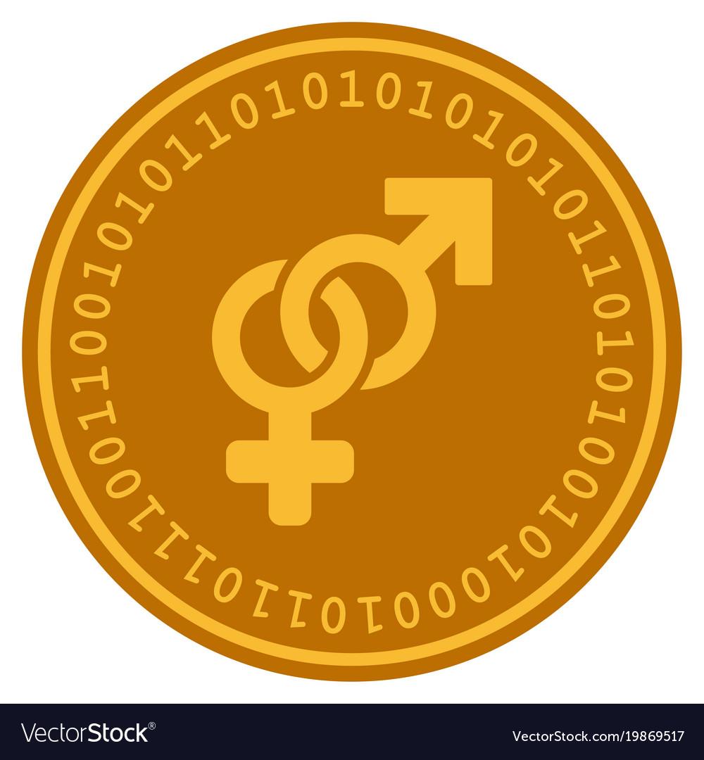 Heterosexual symbol digital coin