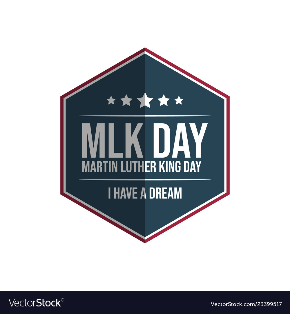 Hexagon Martin Luther King Jr Day Royalty Free Vector Image
