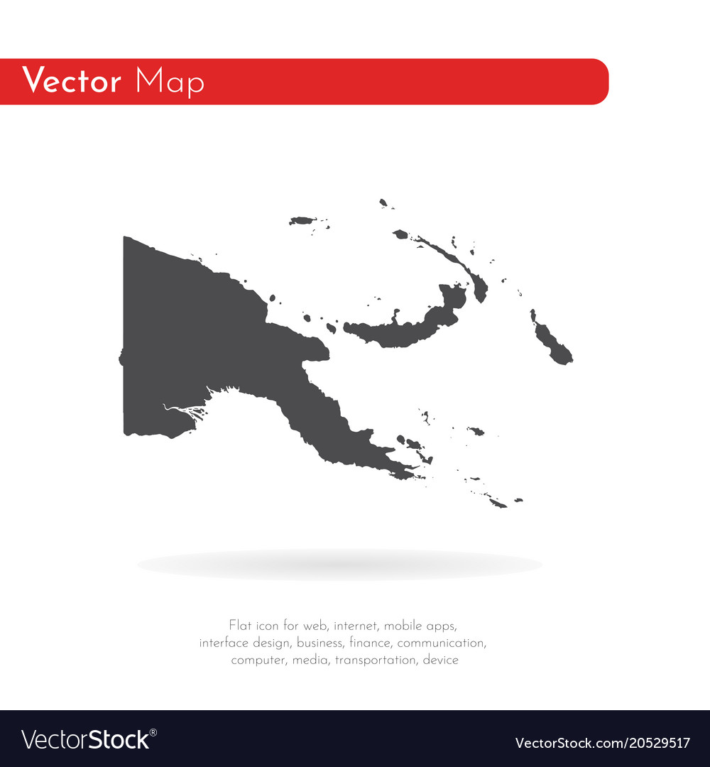 Map papua new guinea isolated