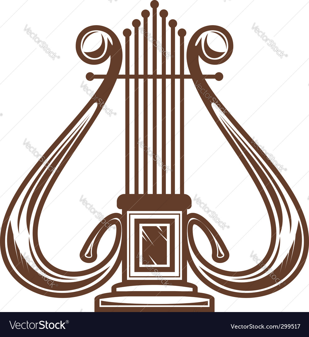 Musical Instrument Harp Royalty Free Vector Image