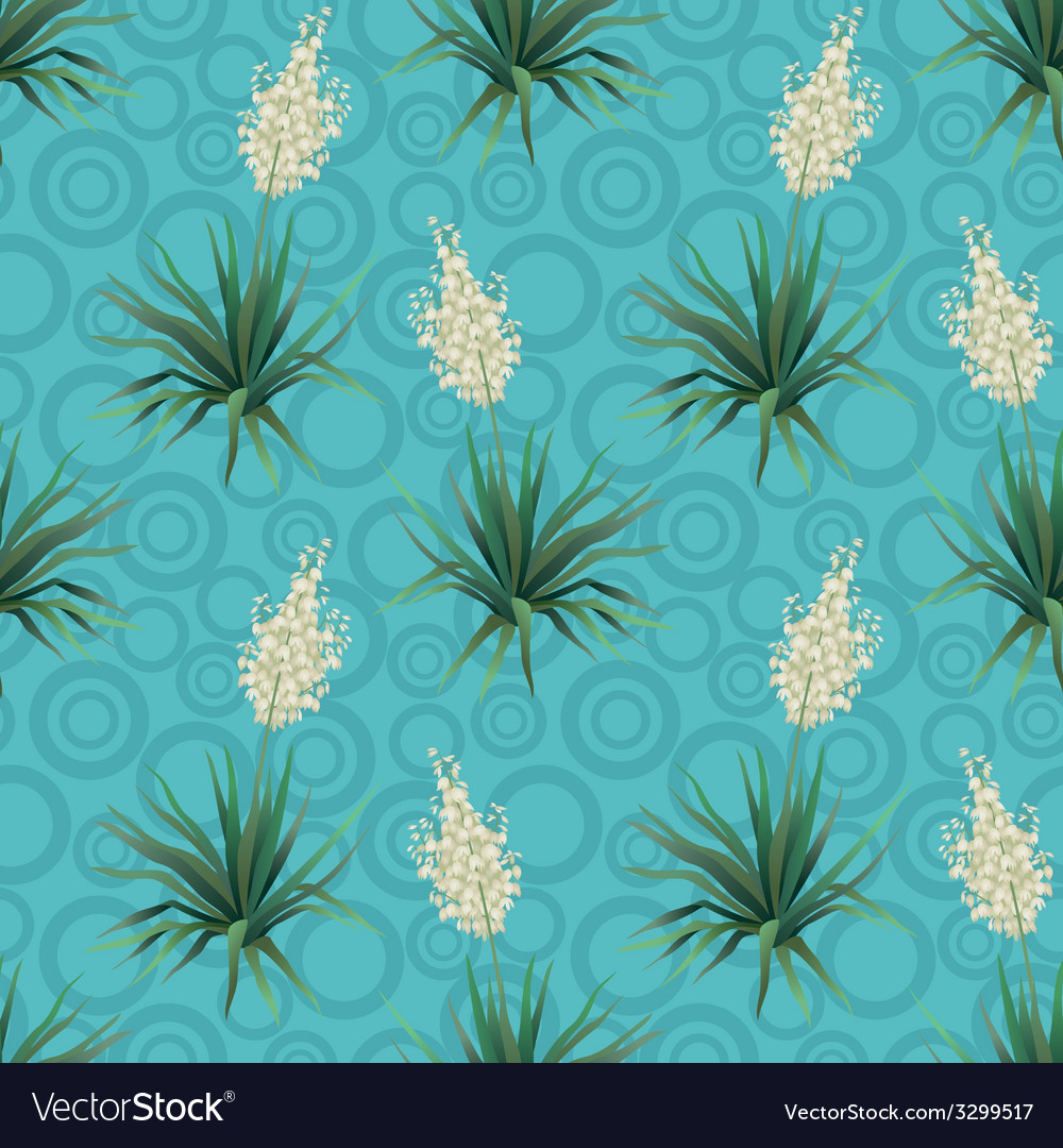 Seamless floral background Yucca flowers
