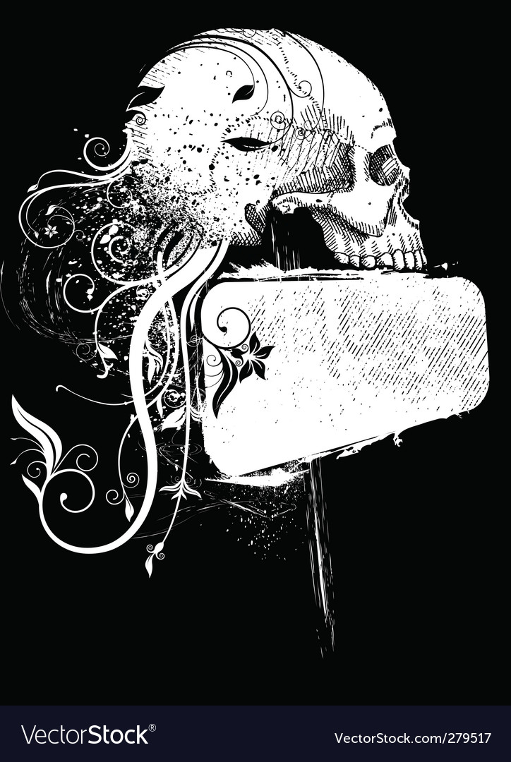 Skull and frame Royalty Free Vector Image - VectorStock