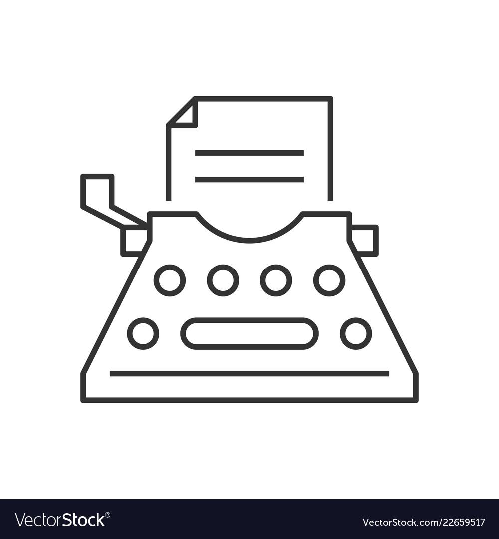 Typewriter outline icon