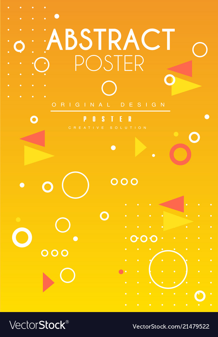 Abstract poster original design creative solution