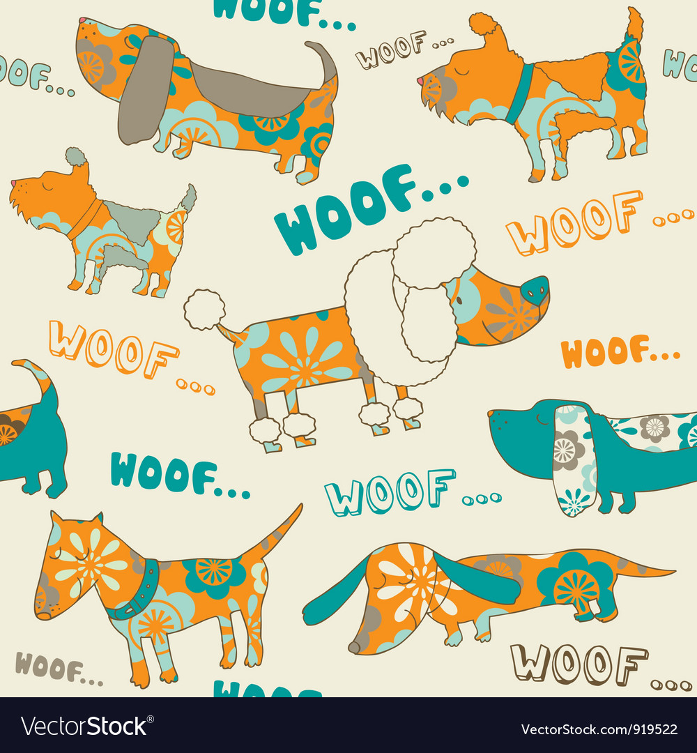 Cute Dogs Pattern vector image