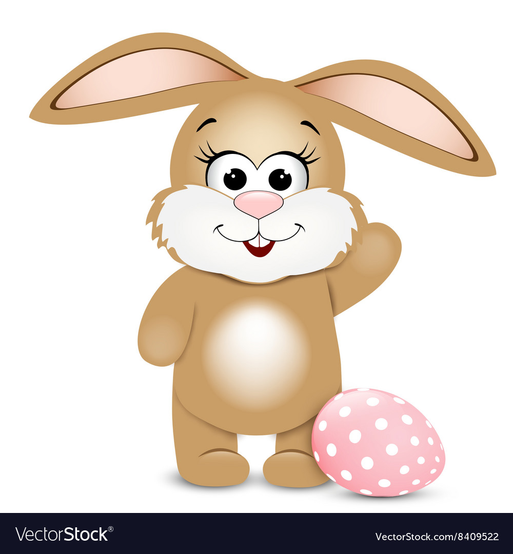 Happy Easter Easter bunnie and egg
