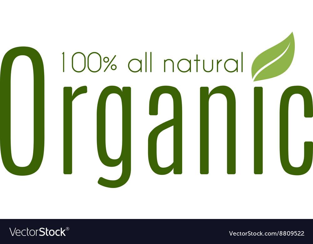 Healthy organic natural fresh logo