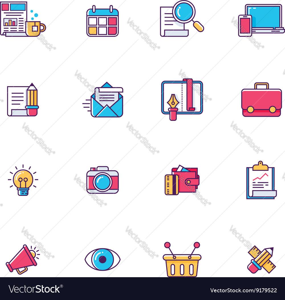 Linear universal web page symbols
