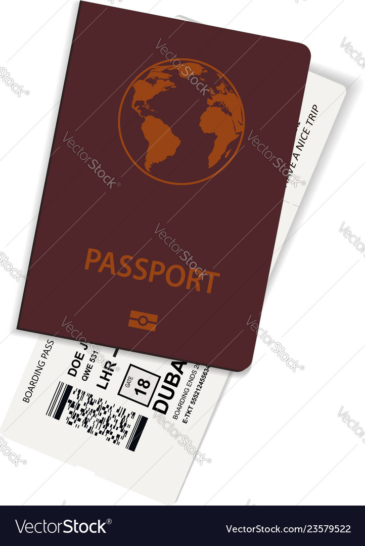 Passport and ticket or boarding pass