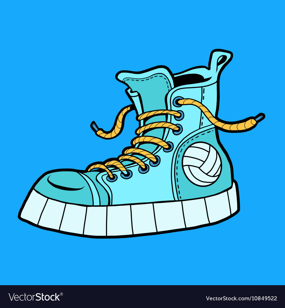 Sports shoes with the ball sneakers vector image