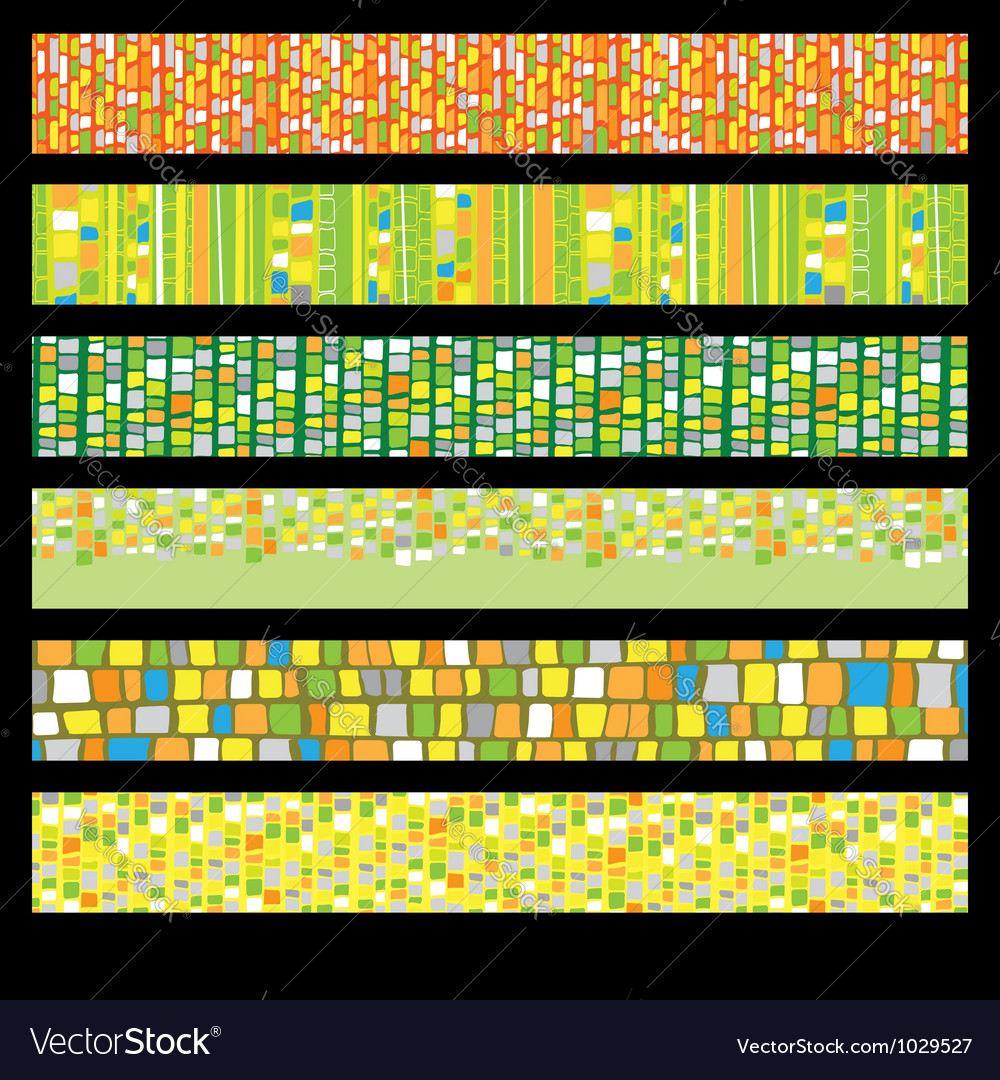 Abstract Mosaic Banners vector image