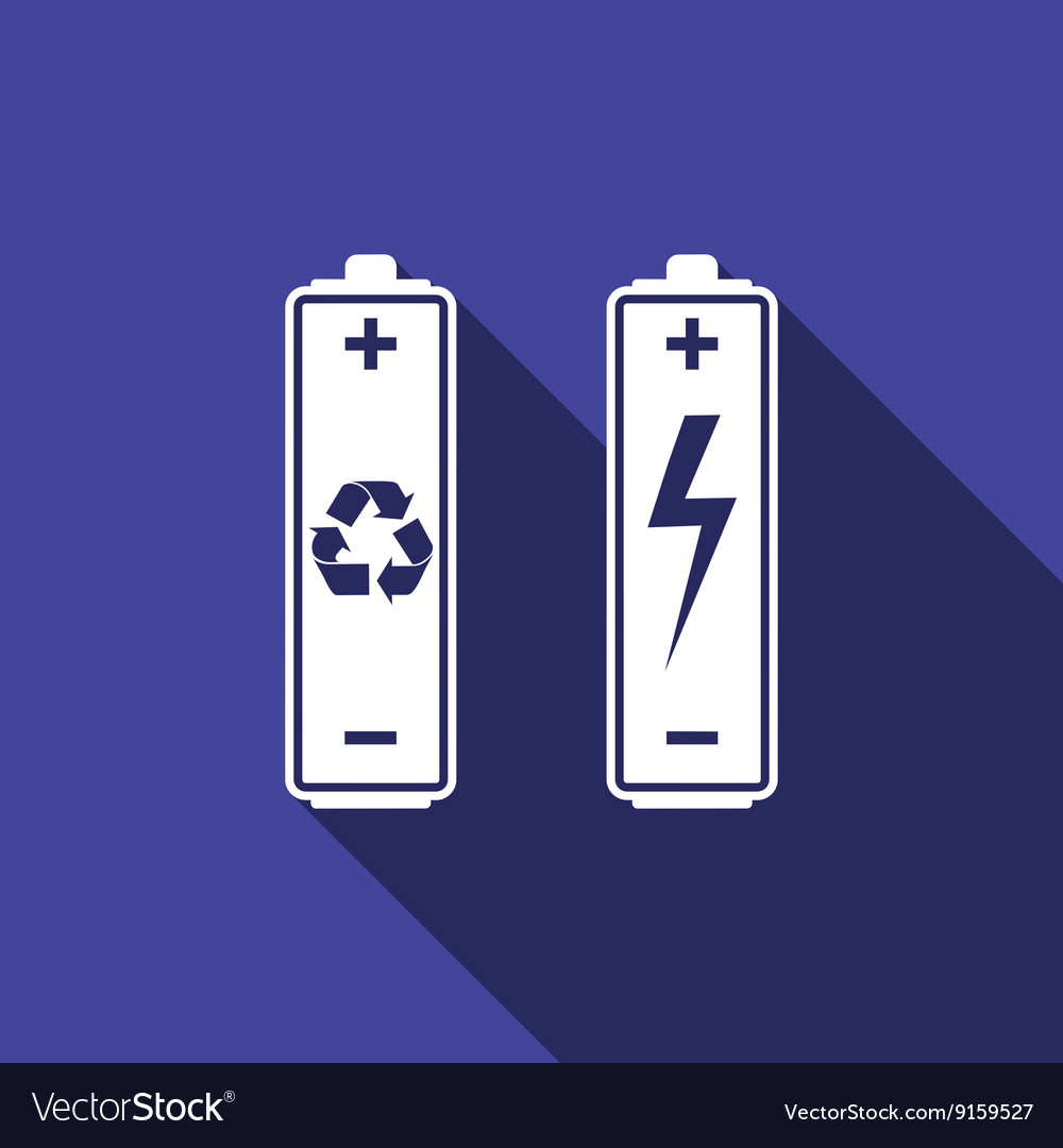 Battery with recycle - renewable energy concept vector image on VectorStock