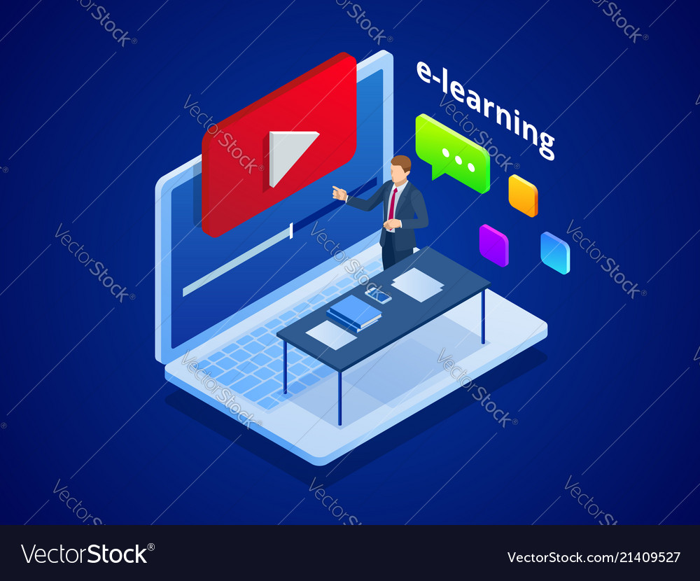 Isometric online video training or tutorial e