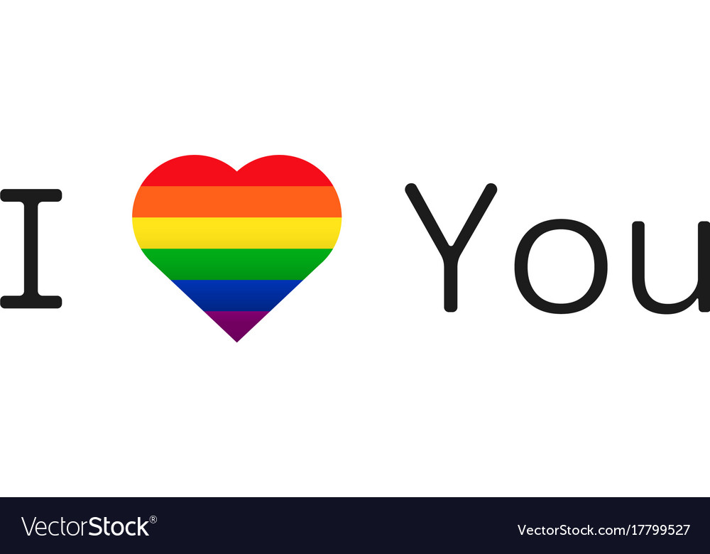 Lgbt love gay pride symbol vector image