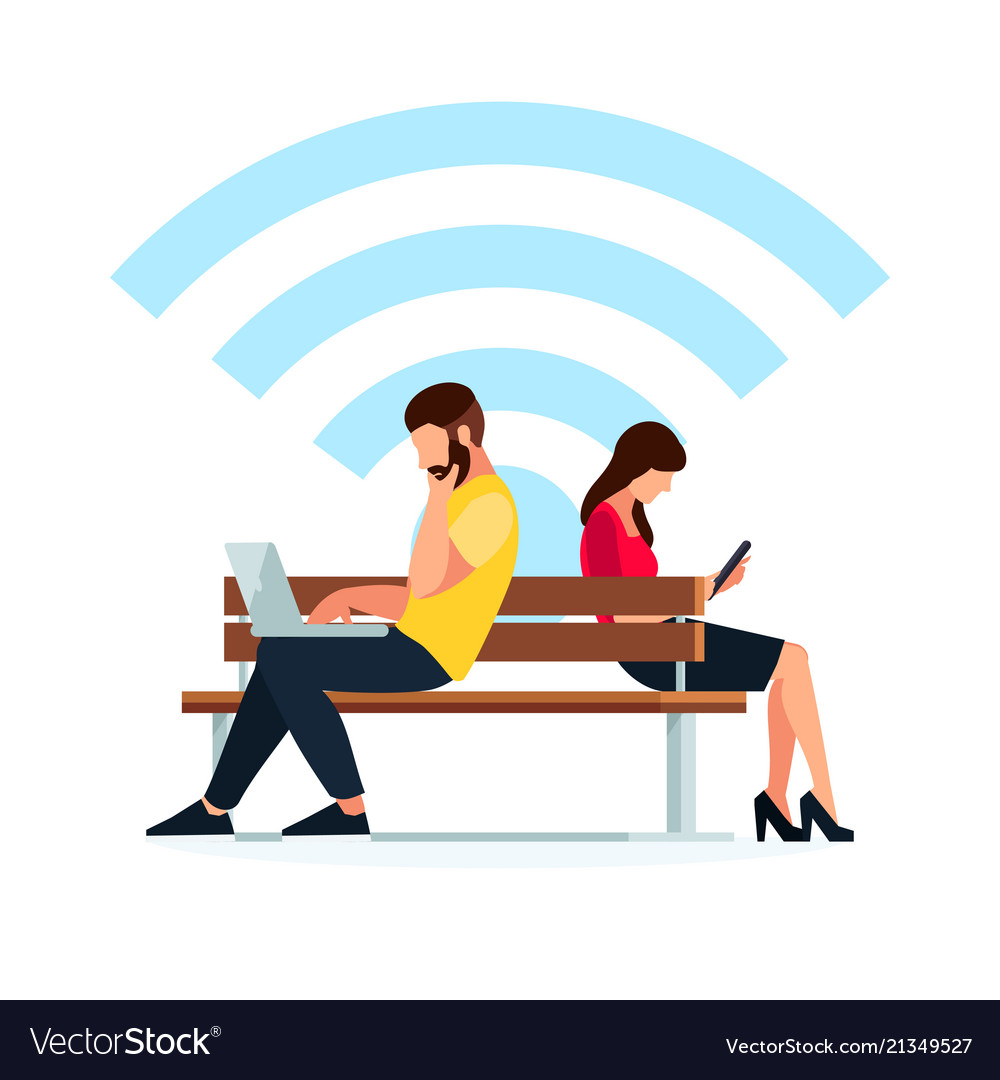 Man and woman read using a tablet pc